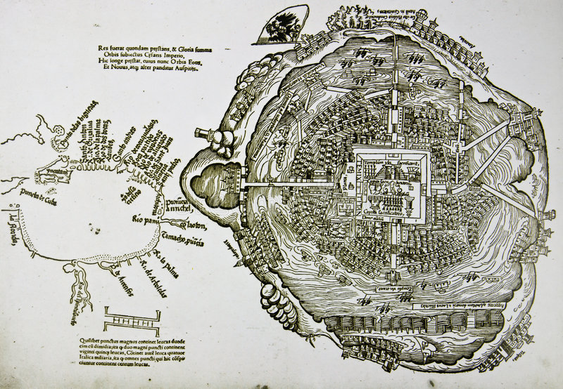 miasta mapy średniowieczny Mexico spanish obraz stock