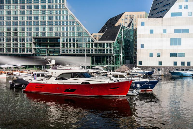 Miasta Marina Ijdock w Amsterdam zdjęcia stock