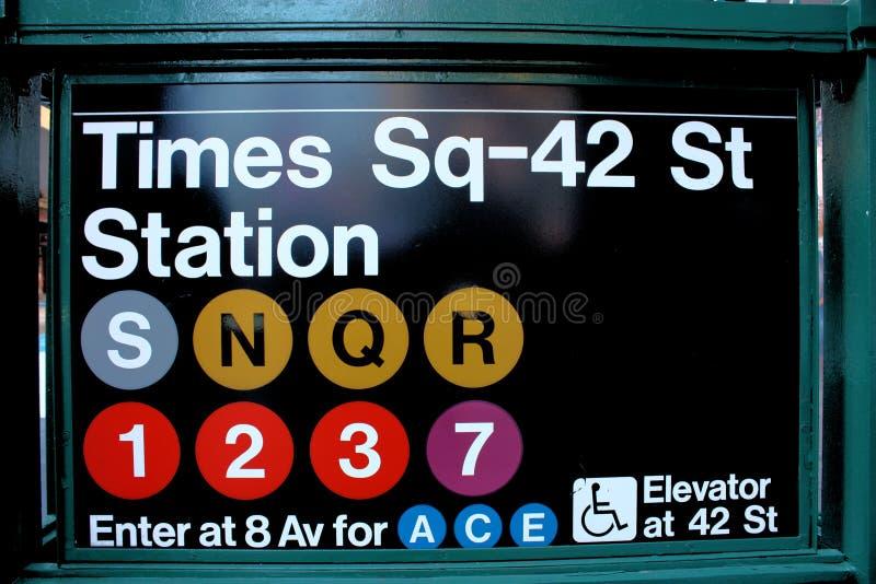 miasta metro nowy kwadratowy synchronizować York obrazy royalty free