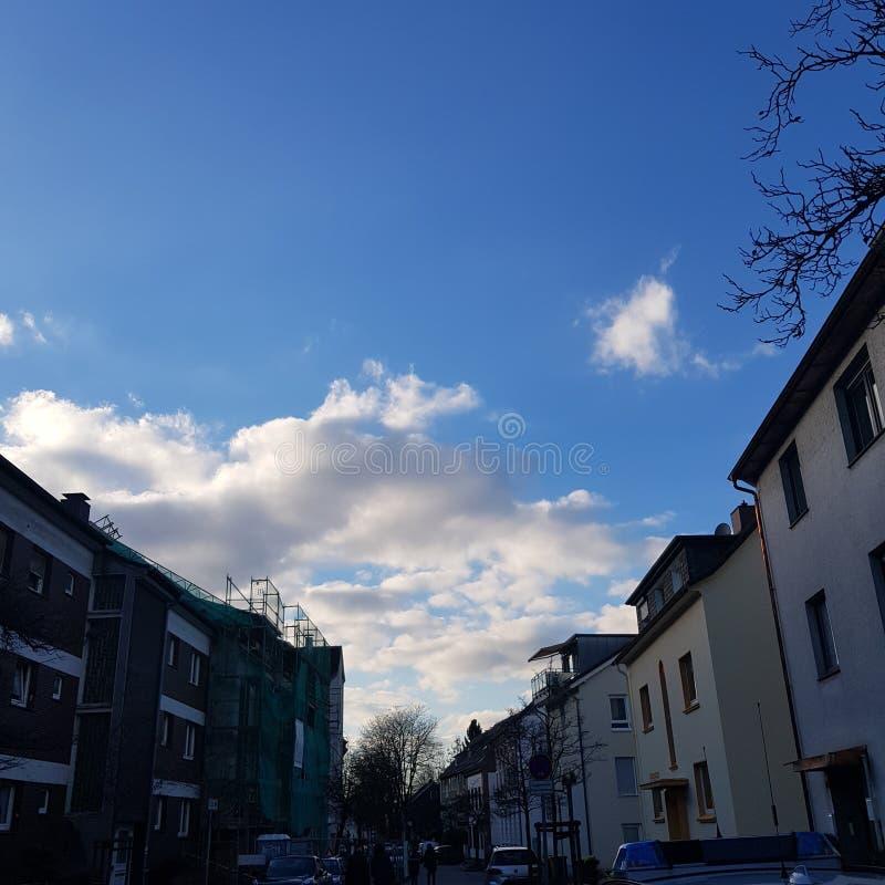 Miasta niebo zdjęcia royalty free