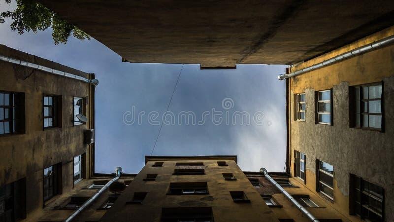 Miasta niebo fotografia royalty free