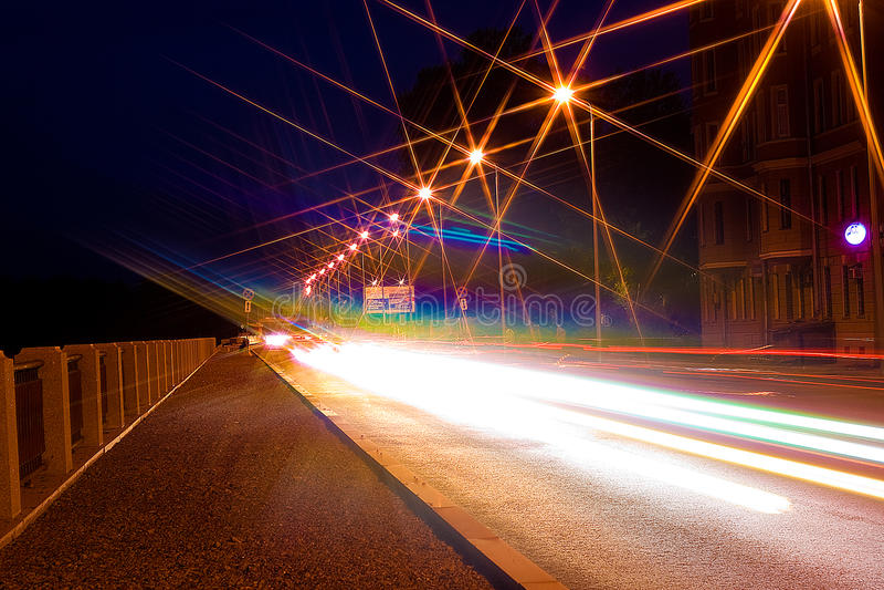 miasta noc droga zdjęcia royalty free