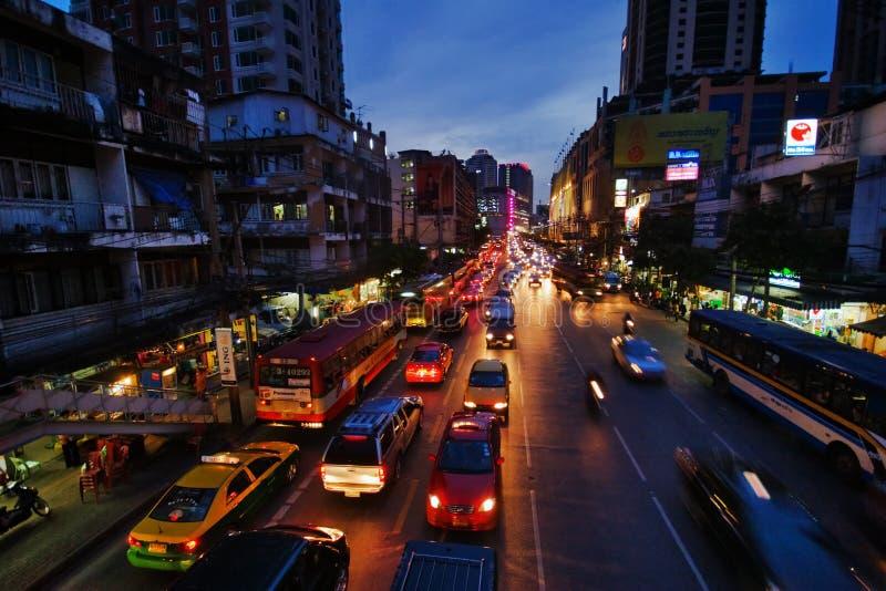 miasta noc droga obraz stock