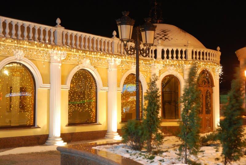miasta noc rovno Ukraine zdjęcia royalty free