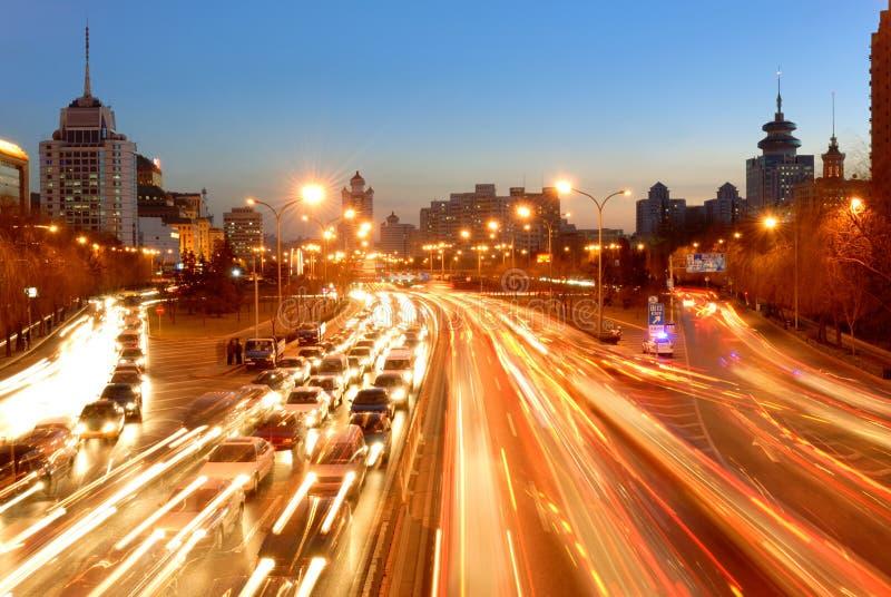 miasta noc scena obraz stock