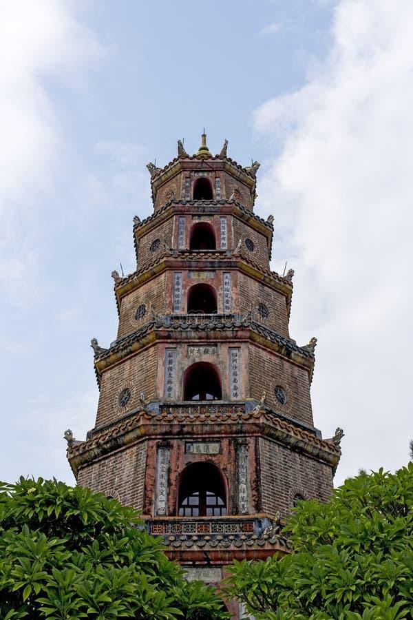 miasta odcienia mu pagoda thien Vietnam obraz royalty free