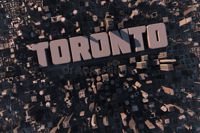miasta odgórny Toronto miastowy widok ilustracja wektor