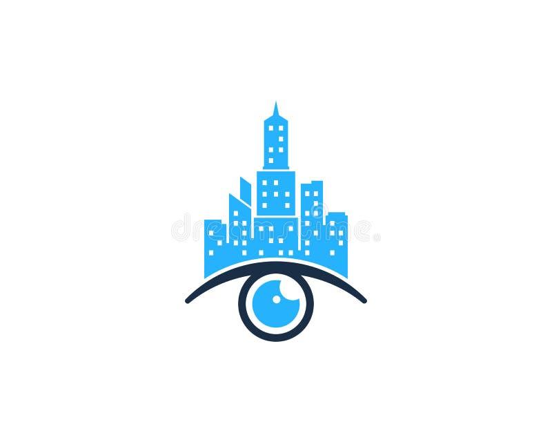 Miasta oka ikony loga projekta Grodzki element ilustracji