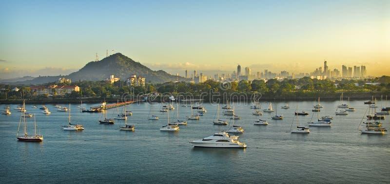 miasta Panama wschód słońca obrazy stock