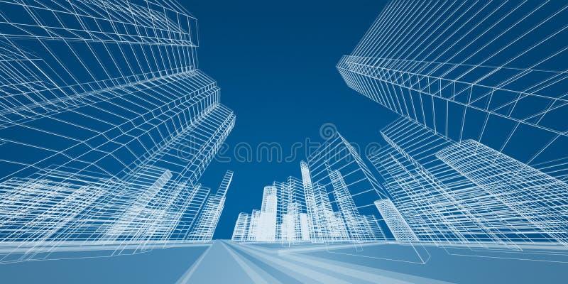 Miasta pojęcie ilustracji