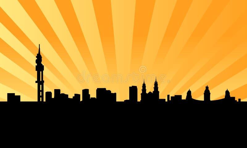miasta Pretoria linia horyzontu wektor royalty ilustracja