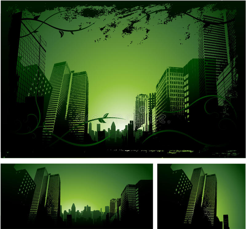 miasta projekta zieleń royalty ilustracja