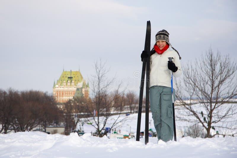 miasta Quebec narciarstwo zdjęcia stock