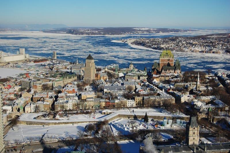 miasta Quebec zima obraz stock
