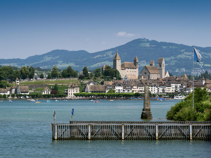 miasta rapperswil Switzerland obrazy stock