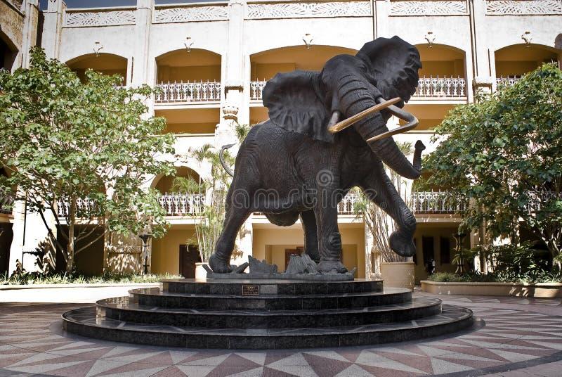 miasta słonia shawu słońce fotografia stock