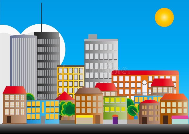 Miasta Sąsiedztwo Zdjęcie Royalty Free