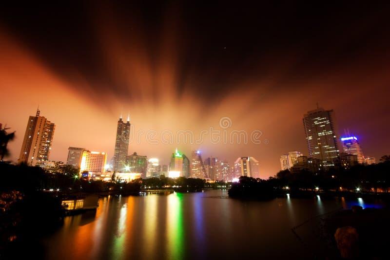 miasta Shenzhen linia horyzontu obraz stock