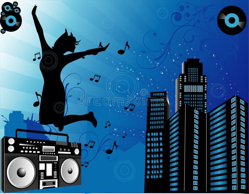 miasta składu muzyka royalty ilustracja