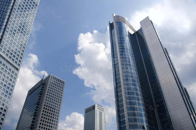 miasta sky obrazy stock