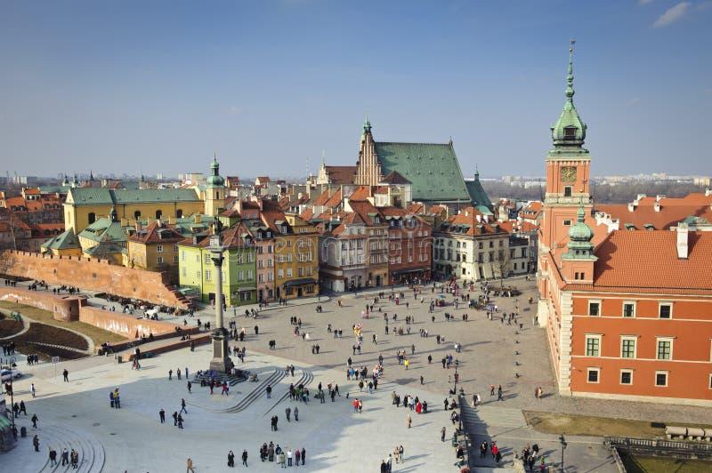 miasta stary panoramy Poland miasteczko Warsaw zdjęcie royalty free