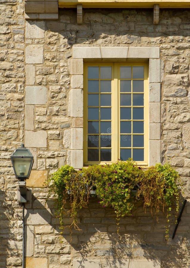 miasta stary Quebec okno zdjęcia stock
