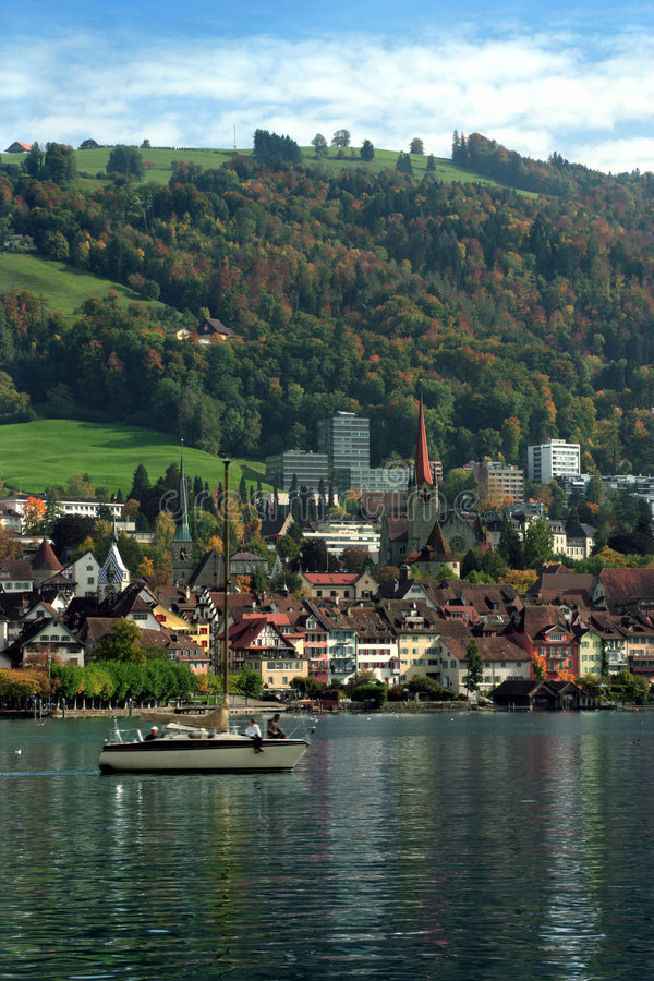miasta Switzerland zug obrazy royalty free