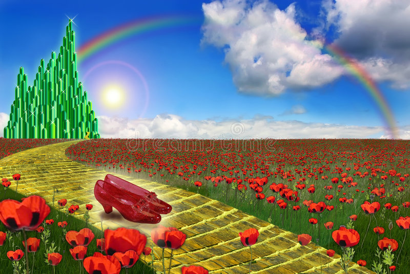 miasta szmaragdu ziemia oz ilustracja wektor