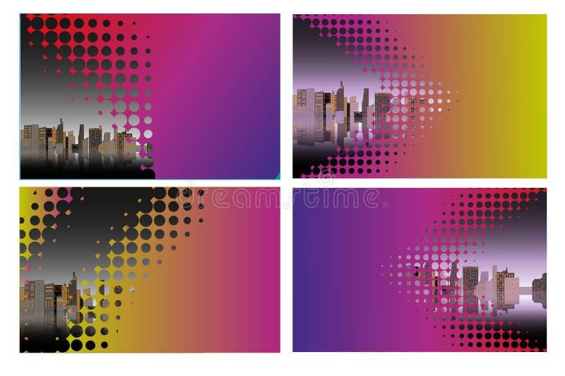 Miasta t?a Ksi??kowej pokrywy projekta Biznesowy szablon Mo?e by? adaptuje broszurka, sprawozdanie roczne, magazyn, plakat, Korpo ilustracji