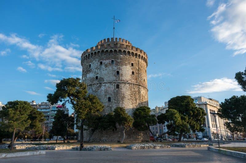 miasta Thessaloniki basztowy biel zdjęcie royalty free