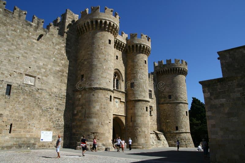 miasta uroczystego mistrza pałac Rhodes zdjęcie stock