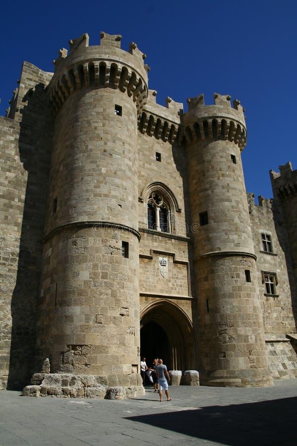 miasta uroczystego mistrza pałac Rhodes fotografia royalty free
