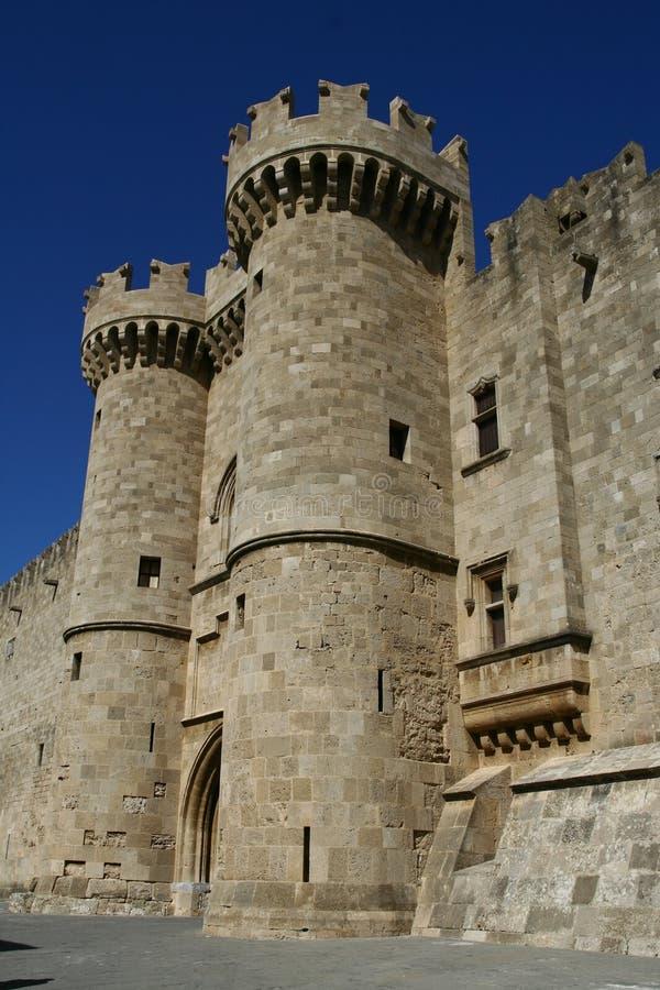 miasta uroczystego mistrza pałac Rhodes obraz stock
