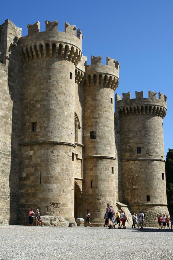 miasta uroczystego mistrza pałac Rhodes zdjęcia stock