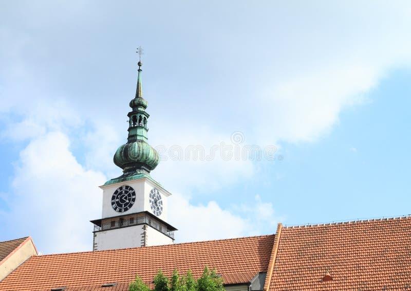 Miasta wierza w Trebic zdjęcie royalty free
