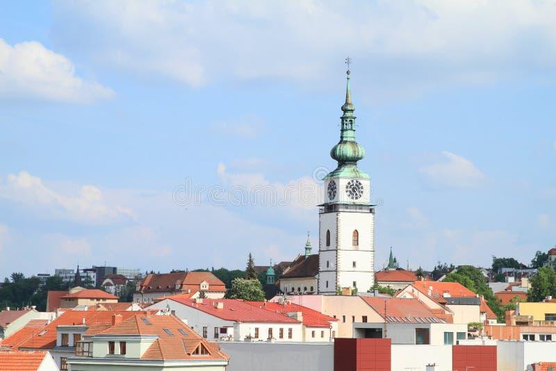 Miasta wierza w Trebic fotografia royalty free