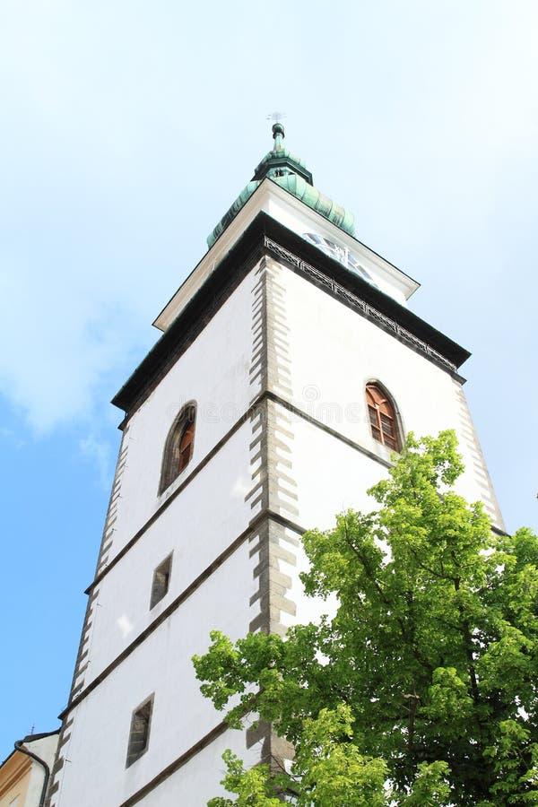 Miasta wierza w Trebic obraz stock