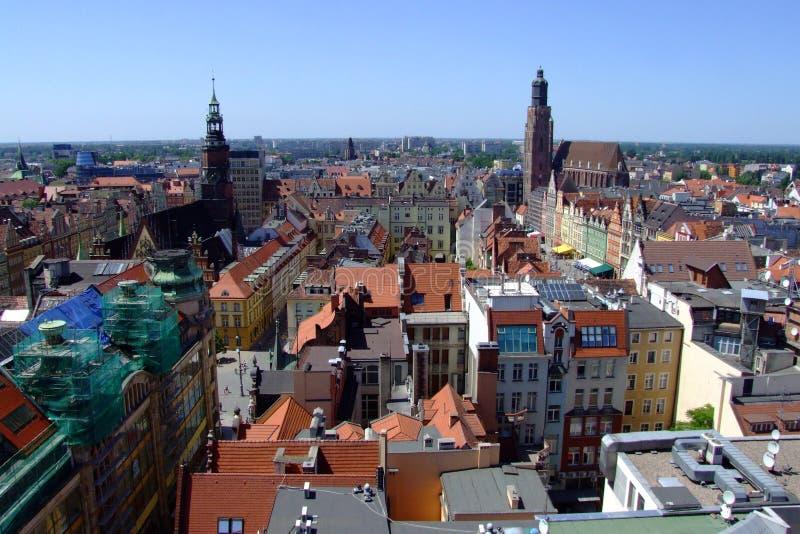 miasta wroclaw targowy stary obraz stock