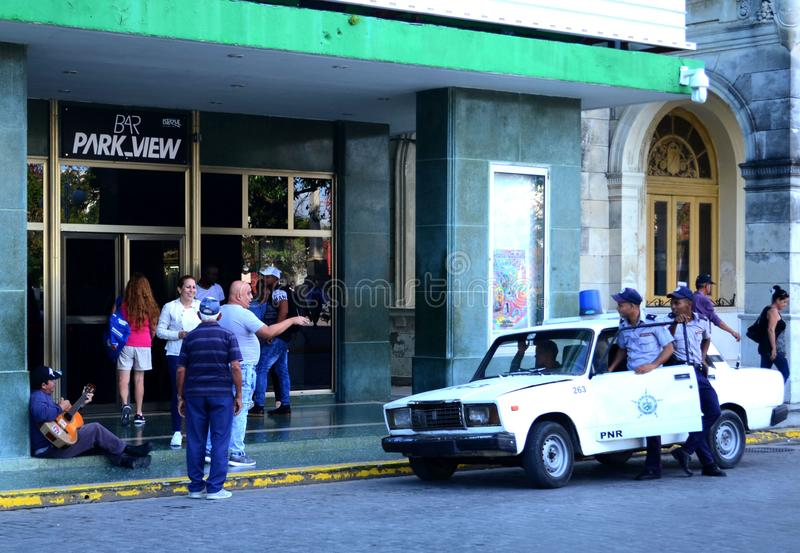 Miasta ?ycie Moment od życia miasto clara Cuba Santa fotografia stock