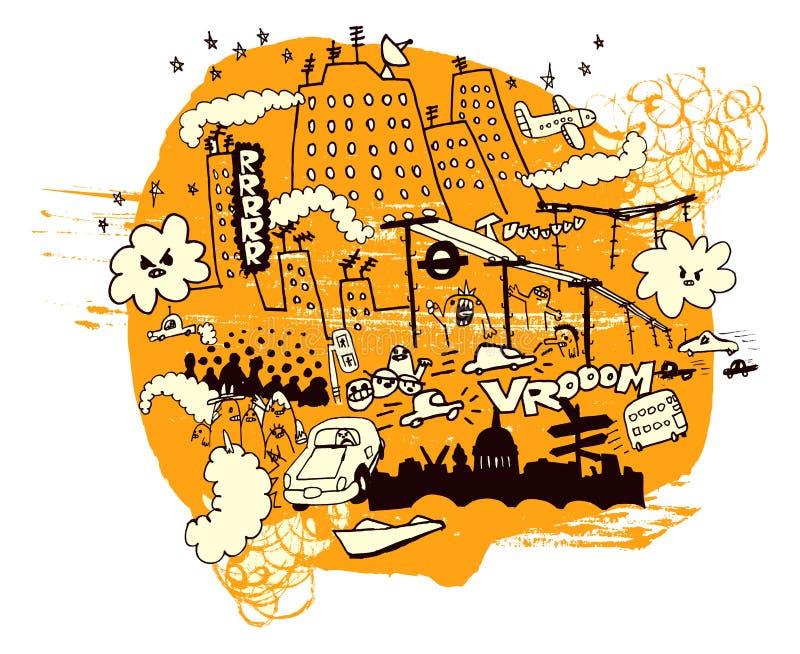 miasta zanieczyszczenia ilustracji