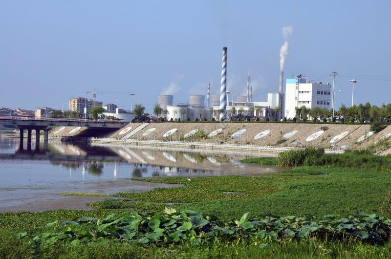Miasta zanieczyszczenie obraz stock