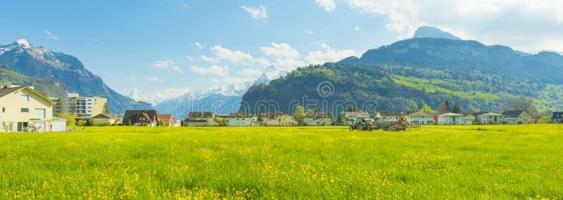 Miasteczka w Europa Brunnen Szwajcaria zdjęcia royalty free