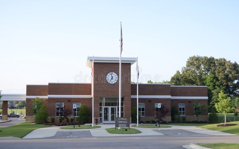 Miasteczko Atoka urząd miasta, Tennessee zdjęcie royalty free