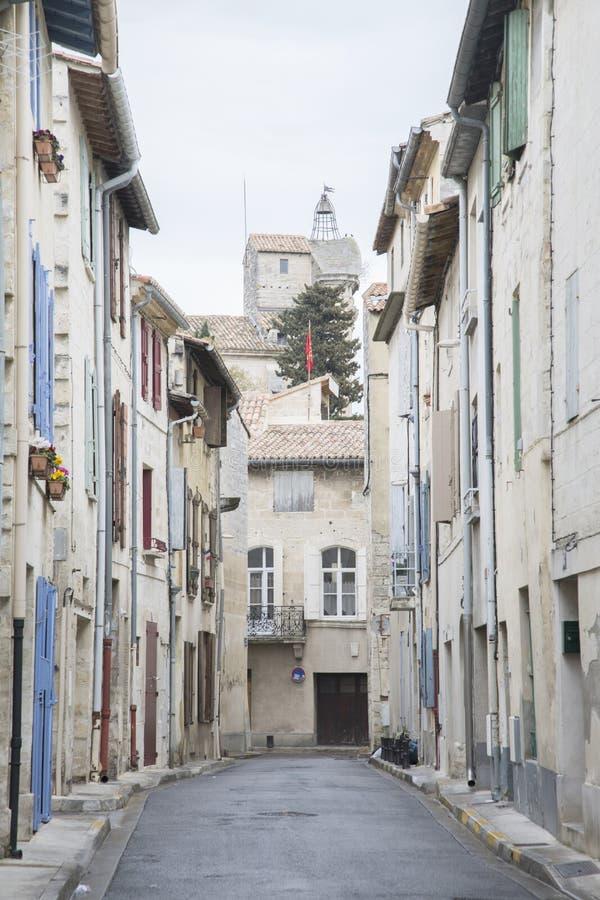 Miasteczko Beaucaire, Provence obrazy stock