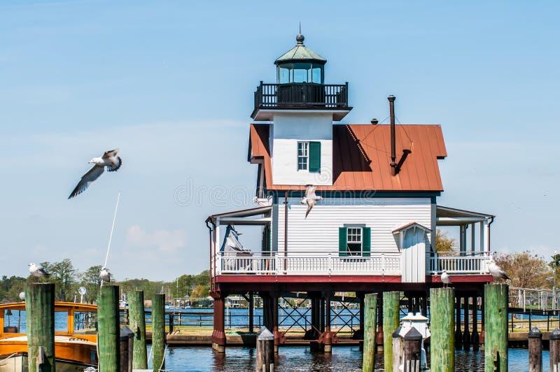 Miasteczko edenton Roanoke rzeki latarnia morska zdjęcia stock