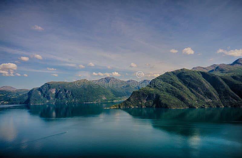 Miasteczko fjords obrazy royalty free
