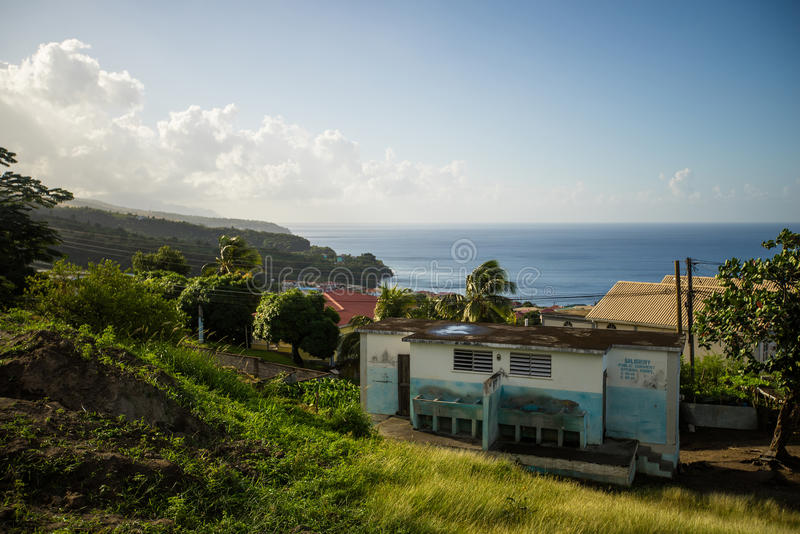 Miasteczko na Dominica, carribean morze obraz stock