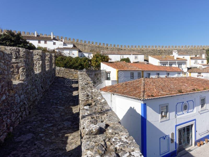 Miasteczko Obidos, Portugalia obrazy royalty free