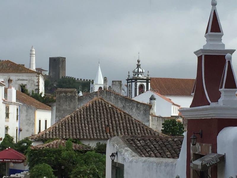 Miasteczko Obidos w Portugalia obrazy stock