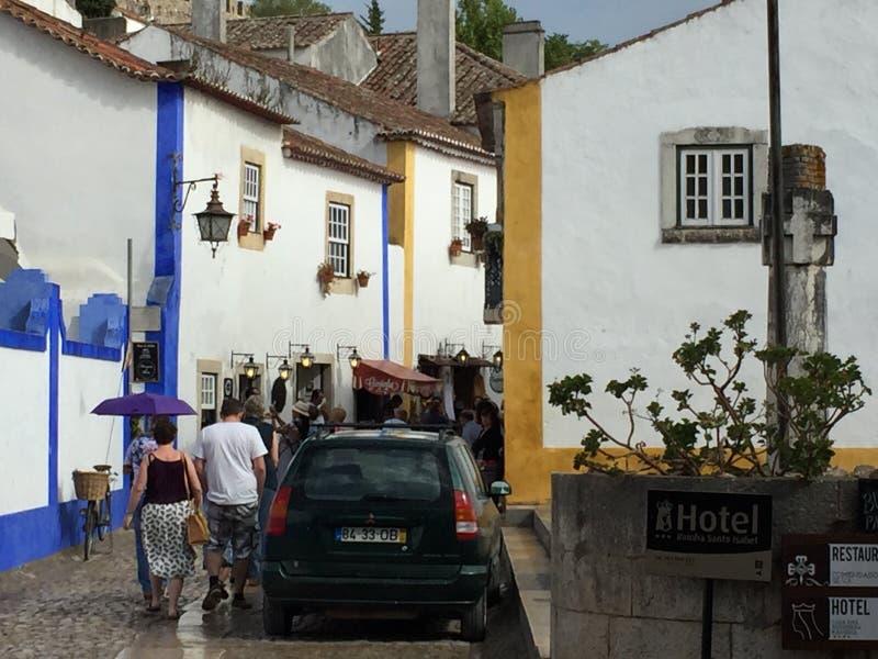 Miasteczko Obidos w Portugalia zdjęcia royalty free